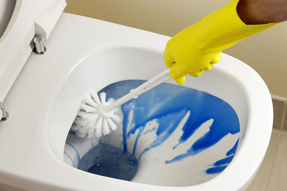 Cleaning Toilet And Bathroom